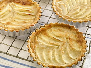 Sour Cream, Apple, and Almond Tartlets