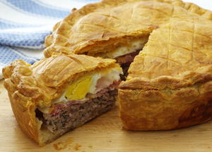 Sausage, Bacon, and Egg Pie