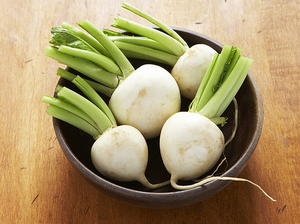 Peas and Turnips with Dill Butter