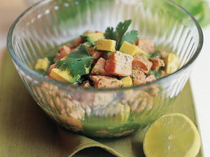 Ceviche Salad with Avocado, Cilantro and Green Chile