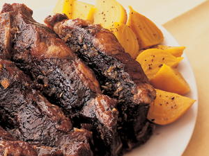 Short Ribs Braised in Porter Ale with Maple-Rosemary Glaze