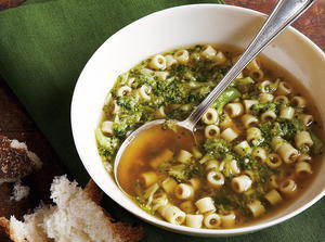 Broccoli Soup with Pasta