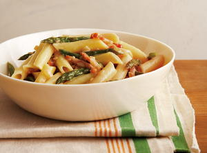 Penne with Asparagus and Prosciutto