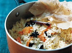 Herby Rice Pilaf with Pistachios and Almonds