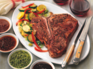 Grilled T-Bone Steak for Two