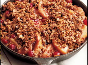 Stovetop Apple-Cranberry Crumble