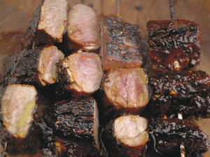 Blackened Barbecued Pork Fillets