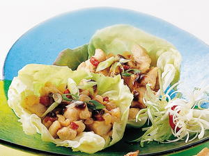 Lettuce Cups with Turkey