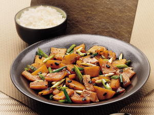 Butternut Squash with Salted Black Beans