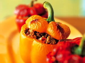 Bell Peppers Stuffed with Meat and Rice