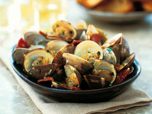 Manila Clams with Fennel-Cured Salami