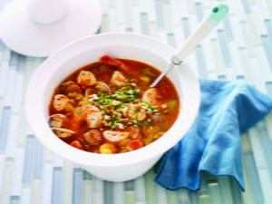 Seafood Caldo with Chorizo