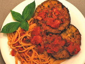 Eggplant Parm with Tomato Basil Sauce