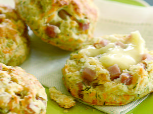 Cheddar, Ham, and Dill Biscuits