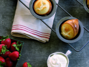 Popovers with Berries and Whipped Cream