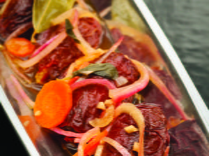 Plantain-Stuffed Chipotle Chiles in Escabeche