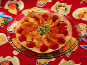 Fruit Tortilla Pizza