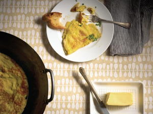 Brie and Chive Omelet