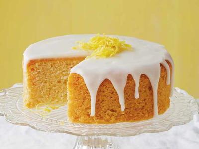 French Lemon Cake with Lemon Glaze