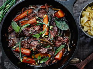 Thai-Style Pot Roast with Fat Noodles