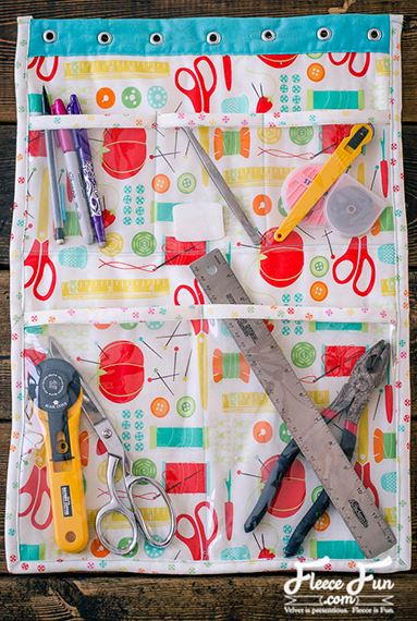 Craft Room Hanging DIY Organizer