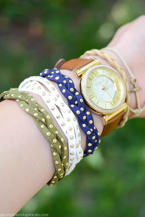 Rhinestone DIY Friendship Bracelets