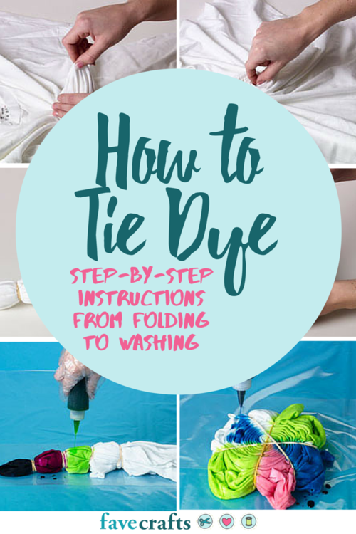 How to Tie Dye Step-by-Step Instructions from Folding to Washing