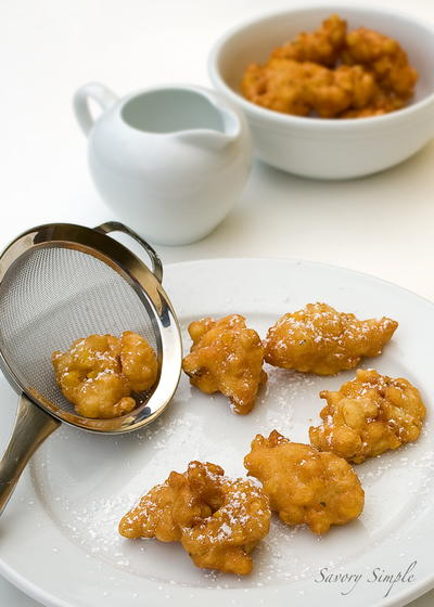 Maple Corn Dessert Fritters