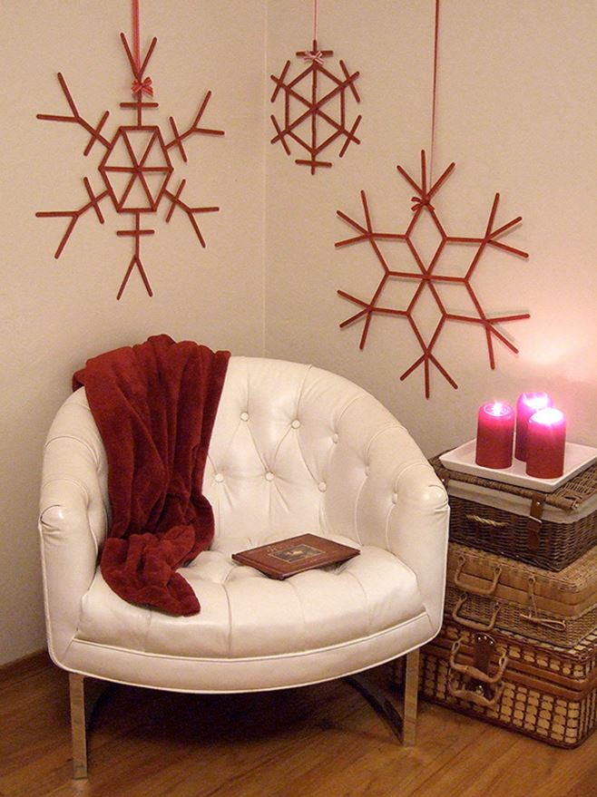 Craft Stick Snowflakes