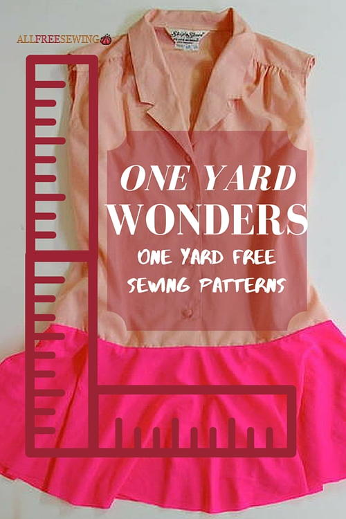 one yard sewing projects It only takes a couple of straight lines and one yard of fabric and it's probably one of my favorite quick-sew projects super sewing projects.