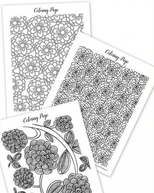 Spring Coloring Sheets for Adults   FaveCrafts.com