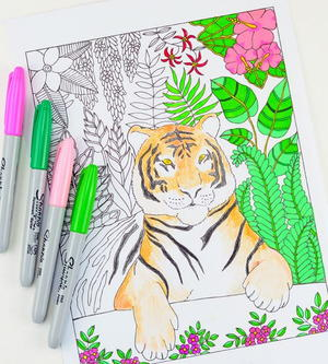 Eye of the Tiger Coloring Page
