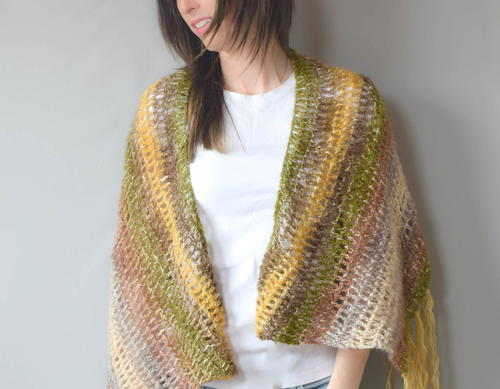 Boho Crochet Patterns : Boho Crochet Shawl Pattern FaveCrafts.com