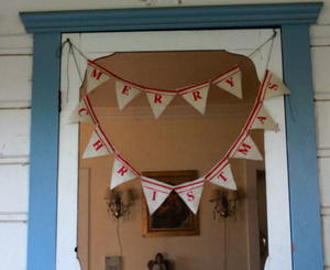 Burlap Flags Christmas Banner Christmas Craft Ideas