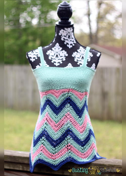 Crochet Tank Top : Chevron Crochet Tank Top FaveCrafts.com