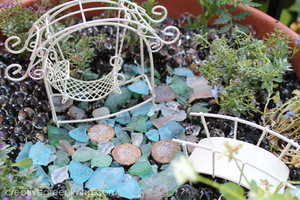 Sea Glass DIY Fairy Garden