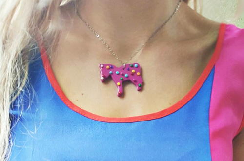 Animal Cookie DIY Necklace