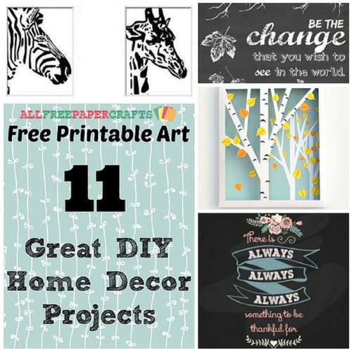 free printable art 11 great diy home decor projects