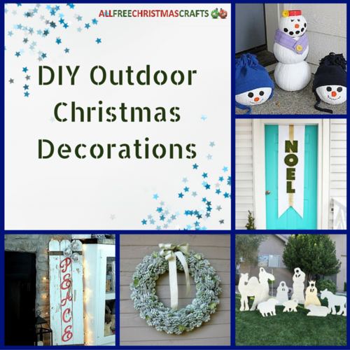 16 diy outdoor christmas decorations for Outdoor christmas decorations 2016