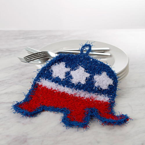 Easy GOP Elephant Scrubby