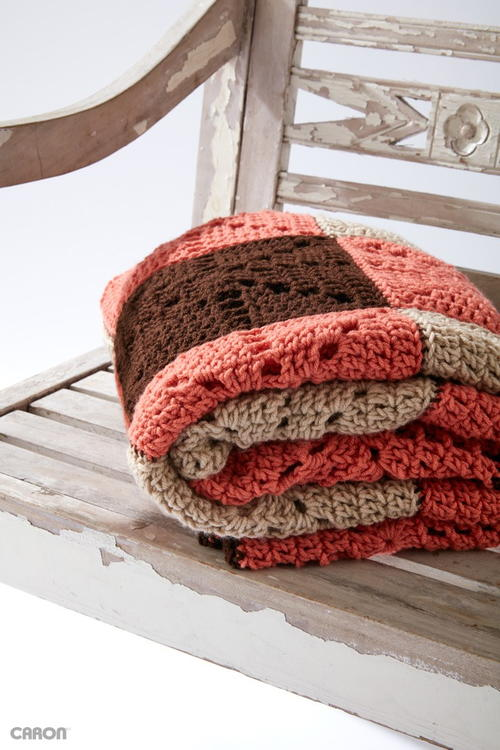 Square Dance Crochet Blanket