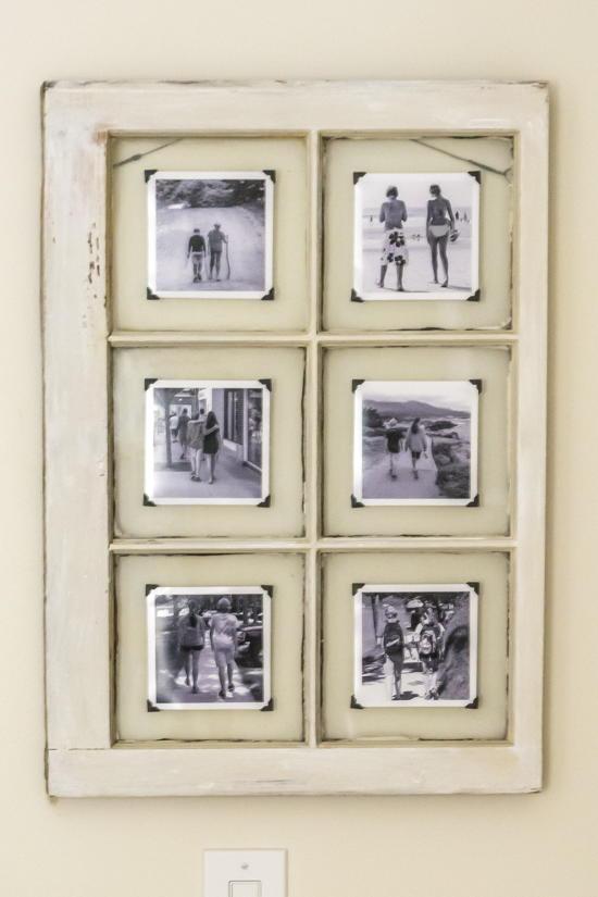 upcycled window frame. Black Bedroom Furniture Sets. Home Design Ideas