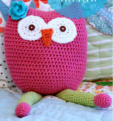 Free Crochet Pattern For Owl Toy : Owl Toy Free Crochet Pattern AllFreeCrochet.com