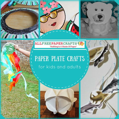 13 paper plate crafts for kids and adults for Paper crafts for adults