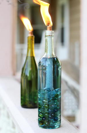 Citronella Wine Bottle Crafts