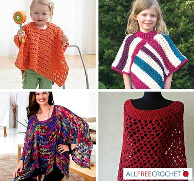 Simple Crochet Patterns for Ponchos