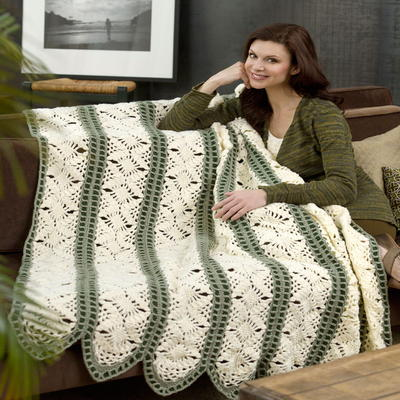 Crochet Panel Afghan Patterns : Fast Irish Panels Throw AllFreeCrochetAfghanPatterns.com
