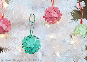Paper Flower DIY Ornaments