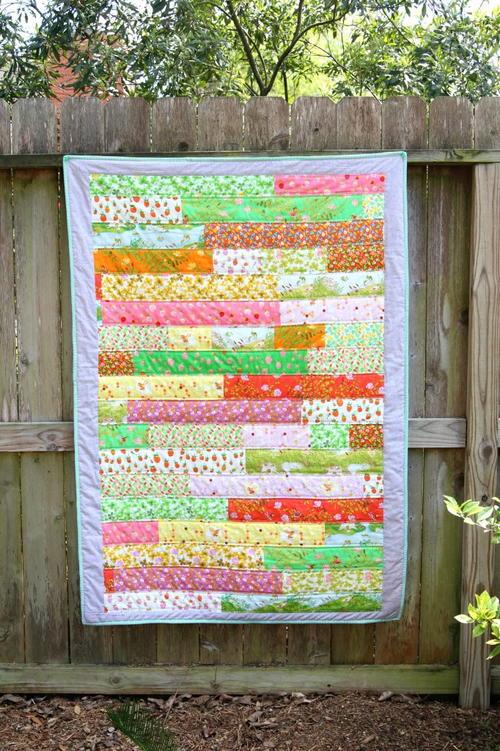 Free Strip Quilt Patterns Easy : Briar Rose Strip Quilt Tutorial FaveQuilts.com