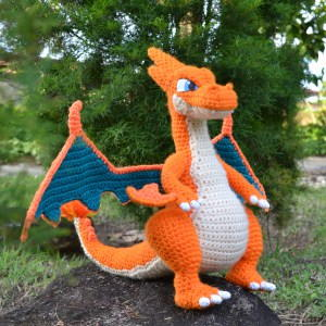 Charizard-Inspired Plushie Pattern